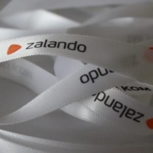 Logodruck auf Satinband