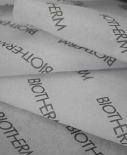 Seidenpapier mit firmenlogo